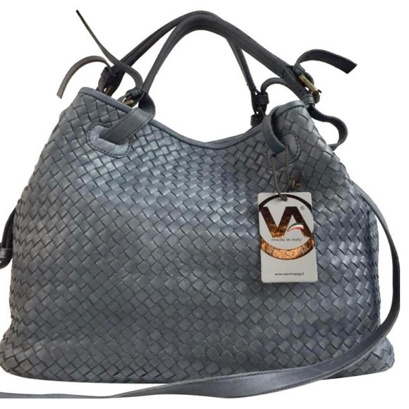 7a54150e55a7 Valentina made in Italy woven leather satchel bag